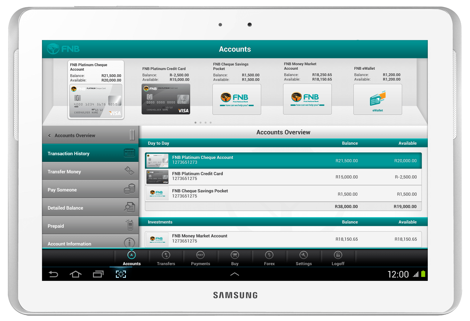How to make a Global Payment via the FNB App: